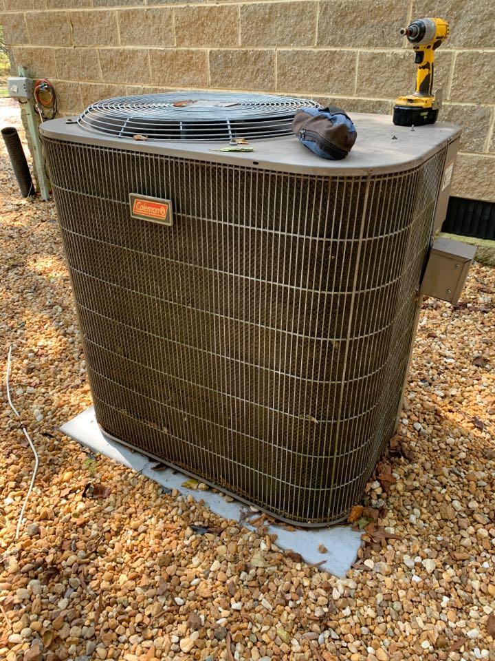 Clayton, NC - Not cooling call at new customer