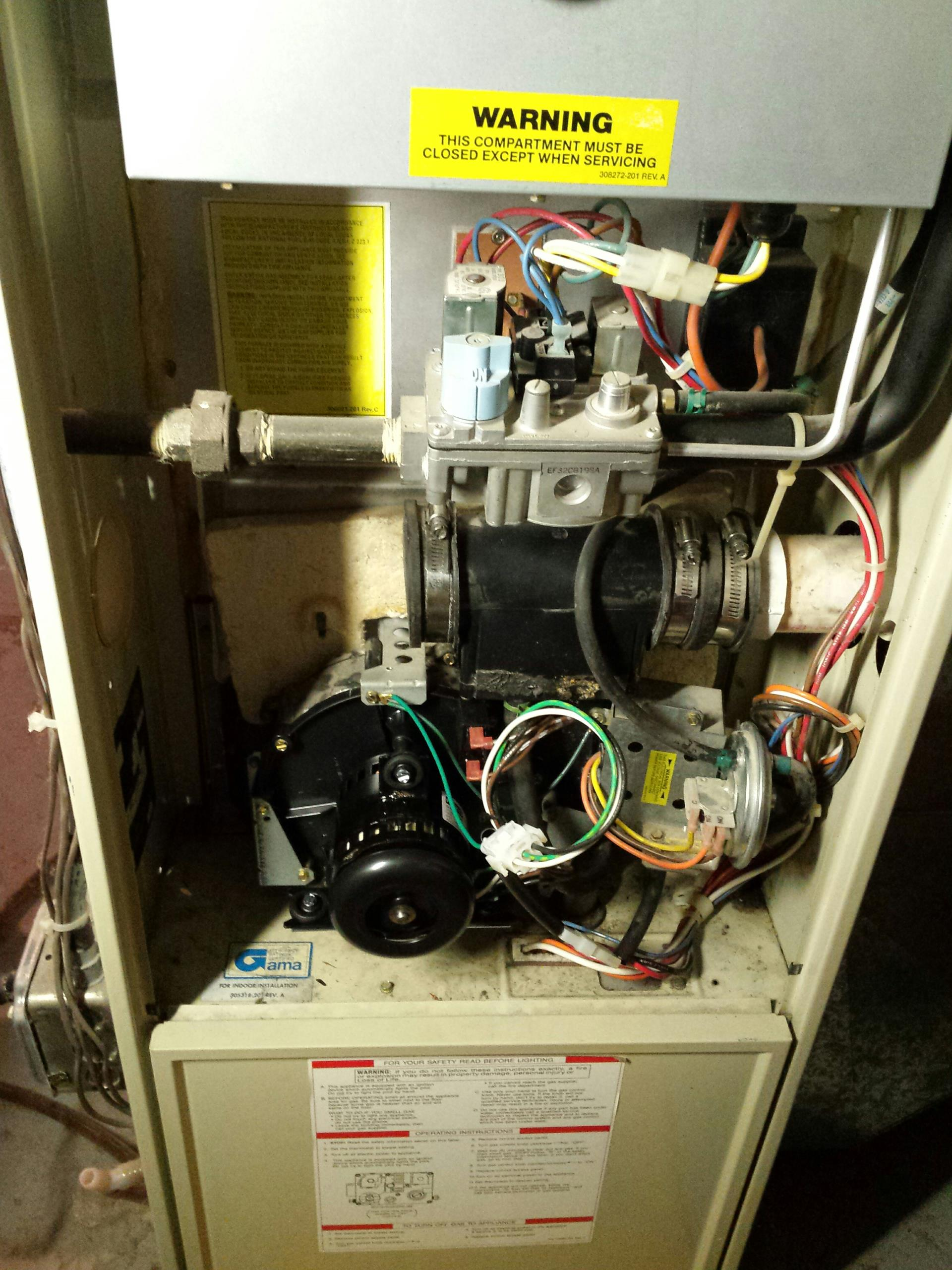 Oak Creek, WI - Installed inducer motor on an old carrier