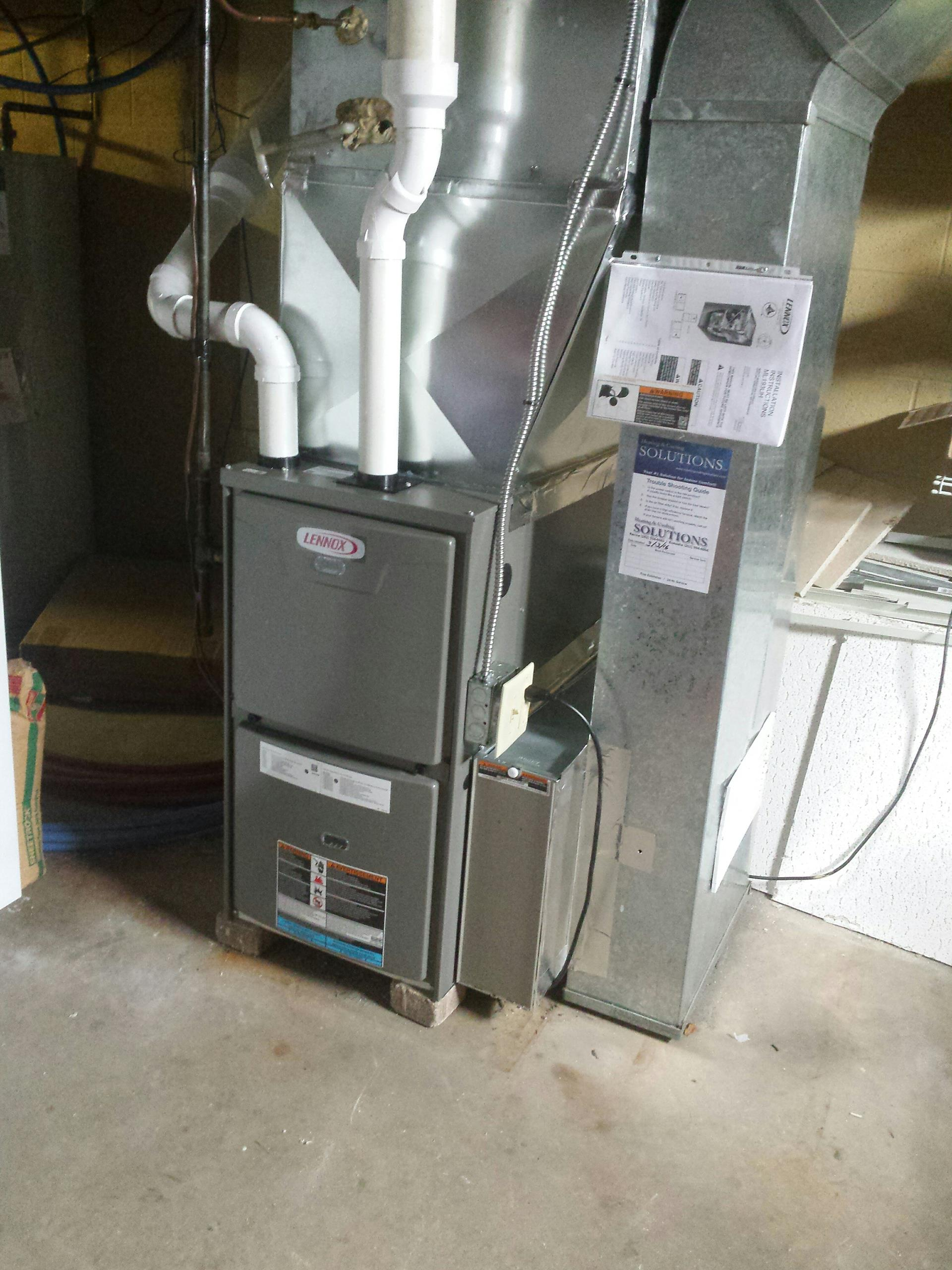 Installed lennox furnace