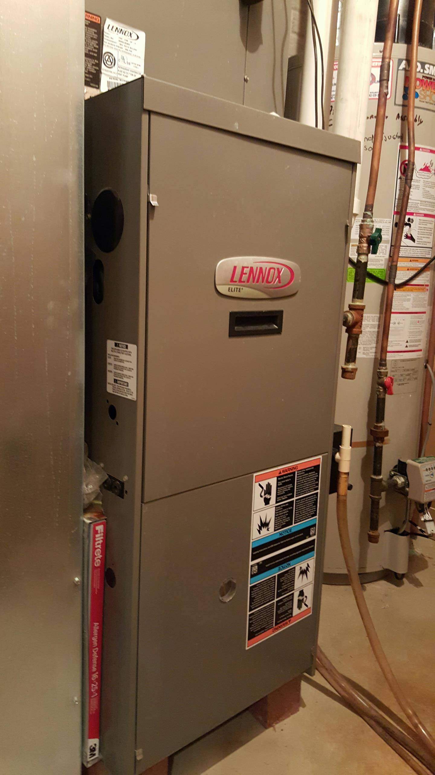 Bristol, WI - Replaced flame sensor on a Lennox G51 furnace.