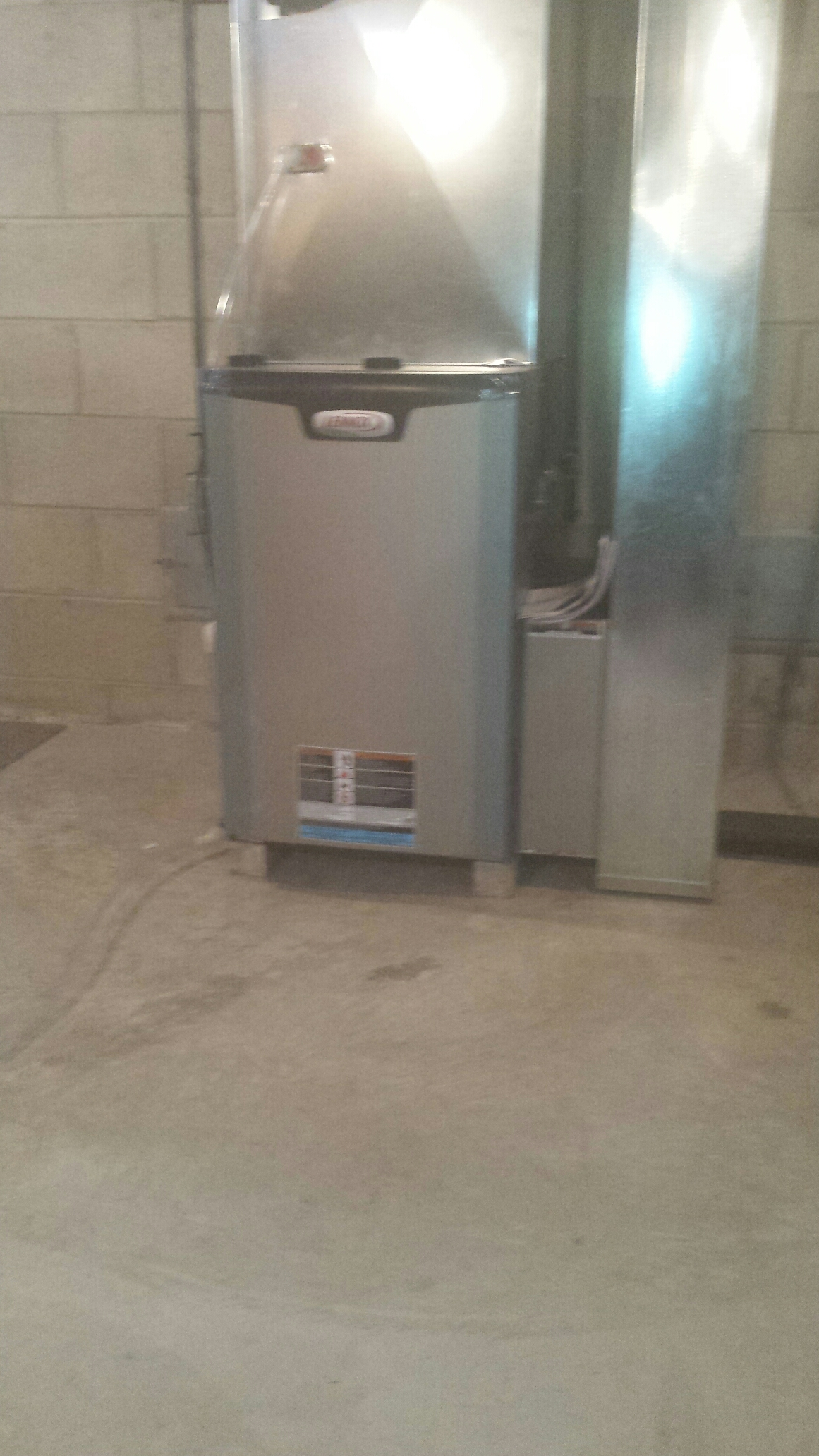Relocating a furnace. Replacing with a new Two stage Elite  Lennox  furnace