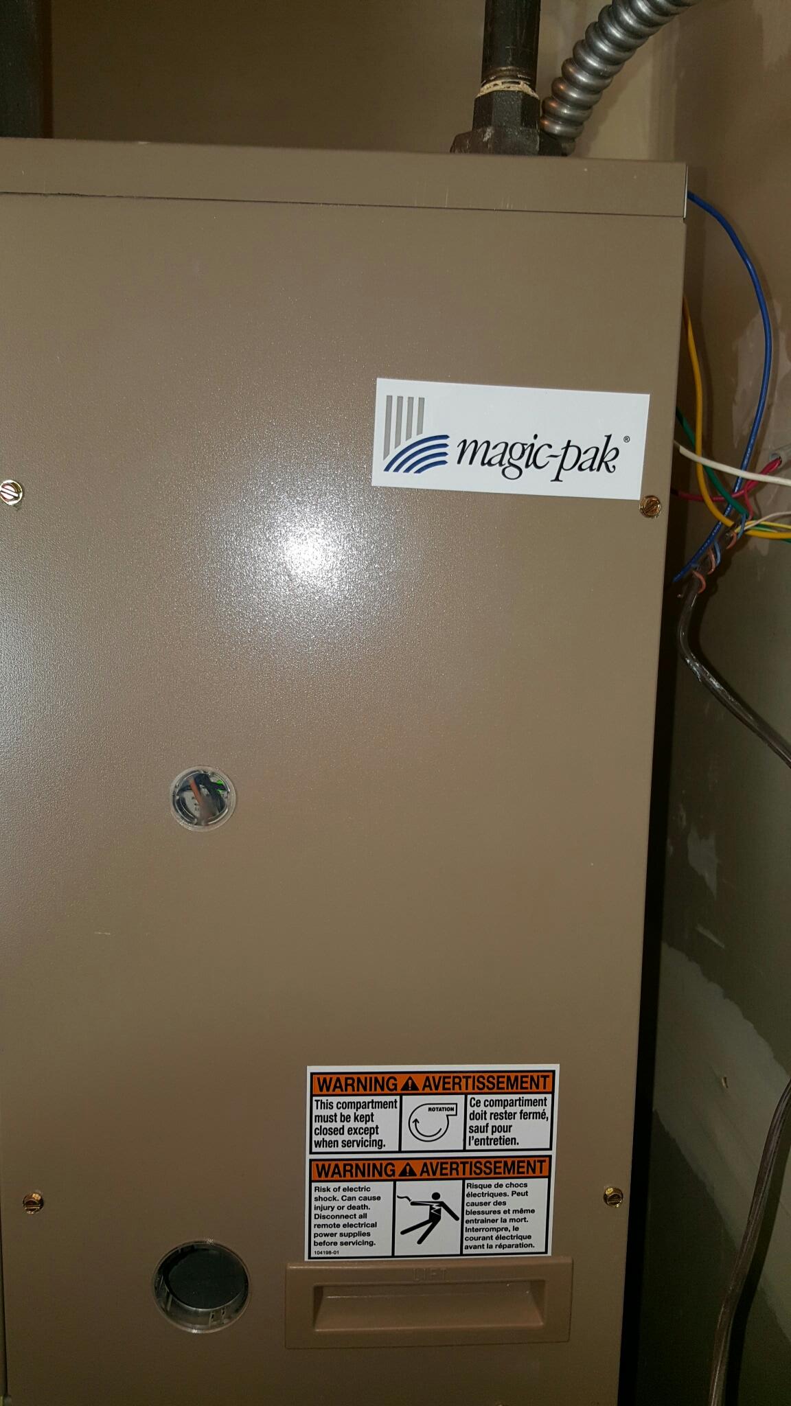 Sturtevant, WI - Preventative Maintenance on a Magic Pak.
