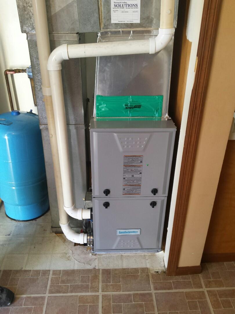 Burlington, WI - Furnace install