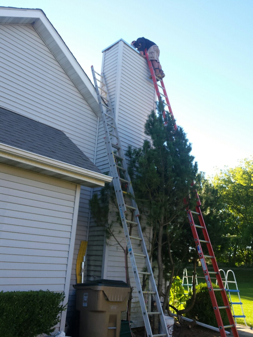 Pleasant Prairie, WI - Installing new chimney cap