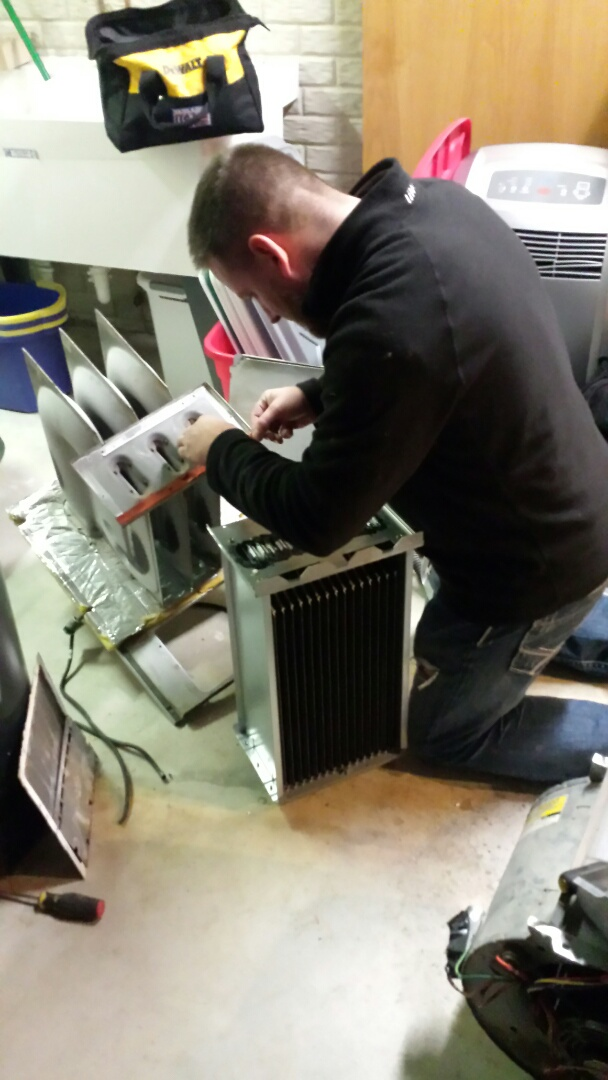 Caledonia, WI - Carrier heat exchanger replacement with Chris.