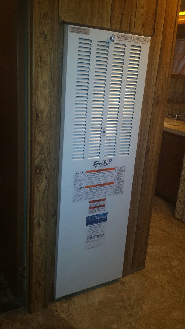 Installed new revolv furnace