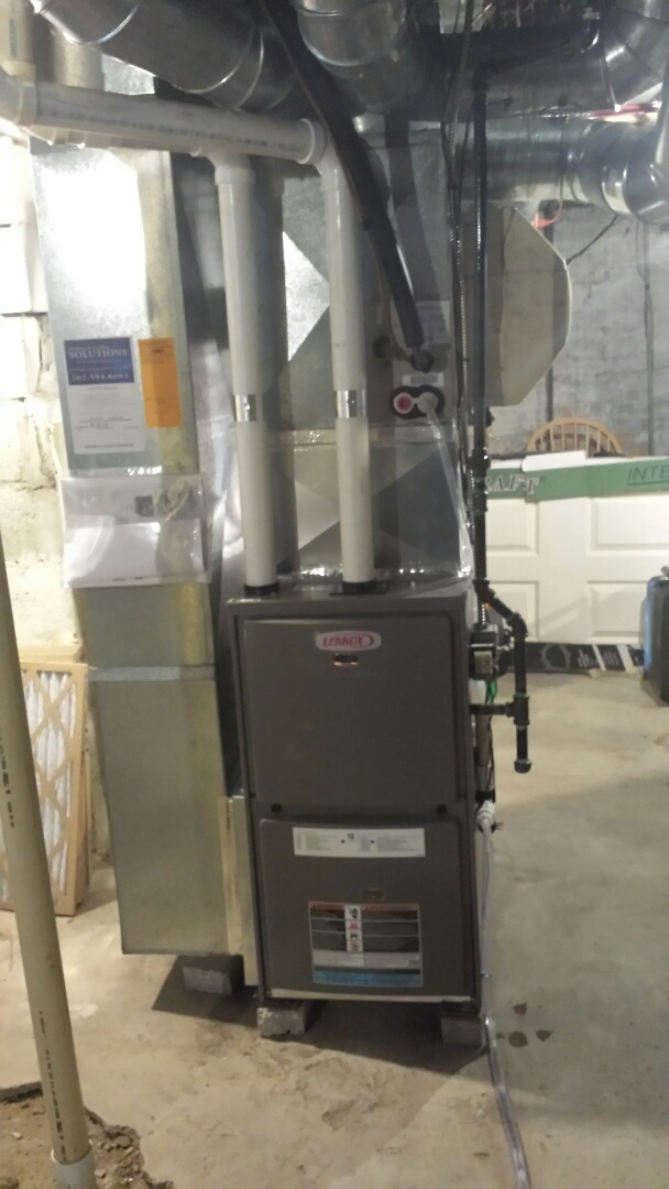 Sturtevant, WI - Installed a new Lennox high efficient furnace