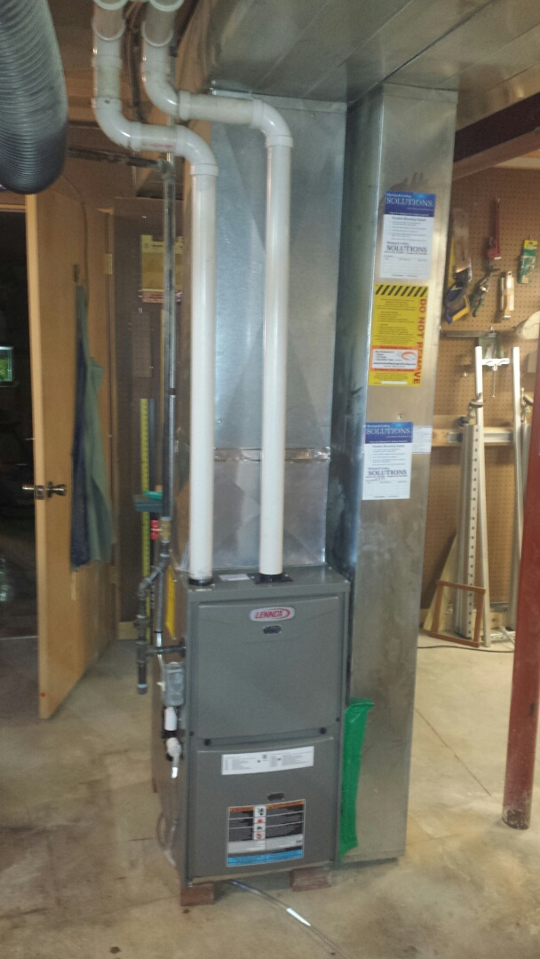Mount Pleasant, WI - Installed a new Lennox high efficient furnace