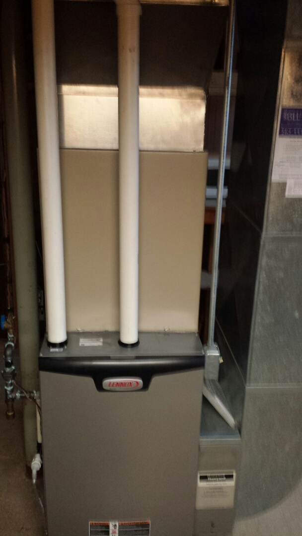 Racine, WI - Installed a new Lennox high efficient furnace