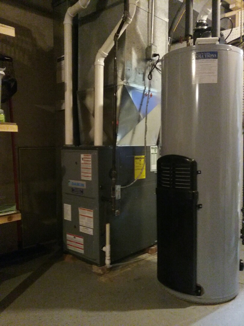 Furnace install new Daikin in Pleasant Prairie.