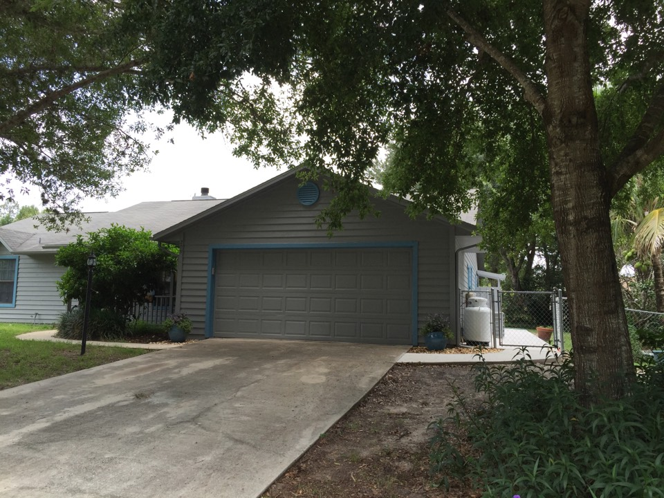 Sebastian, FL - Just completed james hardie siding remodel all around home with new sidewalk and painting included.