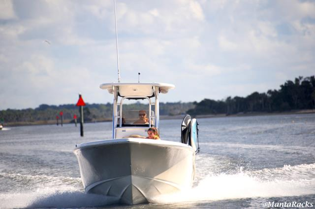 No installation required.  Just slide the racks into a rod holder on your boat's gunwale.