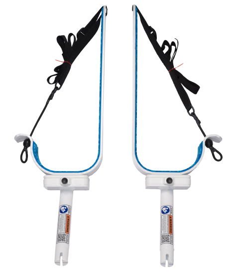 Nothing to install. Manta Racks slides into pre-existing flush mounted rod holders.