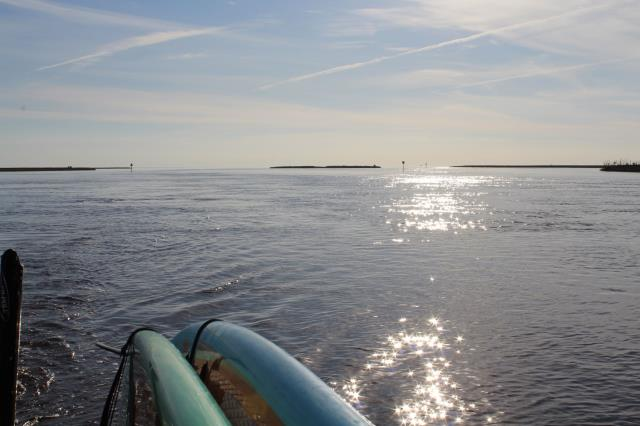 Gautier, MS - Exploration is endless when you take your SUP's or kayaks with you on your boat.