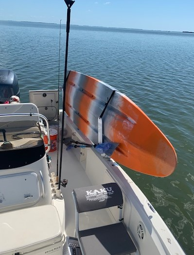 Now you can go further than your boat will.  Take Your SUP or Kayak with you on your boat.