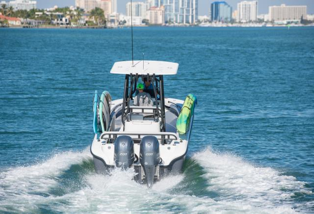Miami, FL - Keep you walkways clear of clutter and have room for your passengers, while taking your SUP's and Kayaks.