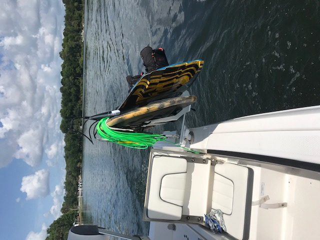 Now there's room to move around your boat without stepping over the wakeboards & kneeboards.