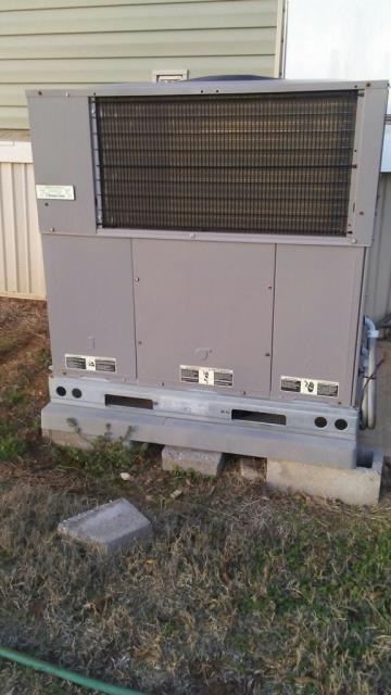 CAME OUT FOR ESTIMATE ON EQUIPMENT. INSTALLED 4T 3P. MADE SURE SYSTEM WAS INSTALLED PROPERLY. CHECK ALL ELECTRICAL CONNECTIONS, CHECK VOLTAGE AND AMPERAGE ON MOTORS, CHECK COMPRESOR DELAY SAFETY CONTROLS, CHECK CONDENSER COIL, CHECK THERMOSTAT. MADE SURE WORK AREA WAS CLEAN WHEN FINISH. EVERYTHING IS RUNNING GREAT.