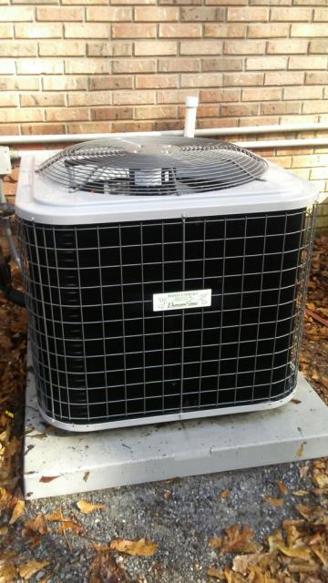 ESTIMATE FOR HEAT AND AIR EQUIPMENT. INSTALLED 4T HT 12YR P&. NEW SERVICE AGREEMENT. NEW SYSTEM WAS INSTALLED PROPERLY AND WORK AREA WAS CLEAN WHEN JOB WAS COMPLETED. CHECK CONDENSER COIL, COMPRESSOR DELAY SAFETY CONTROLS, ENERGY CONSUMPTION, THERMOSTAT, AIRFLOW, AIR FILTER, FREON LEVELS, DRAINAGE, AND ALL ELECTRICAL CONNECTIONS. EVERYTHING IS WORKING GOOD.