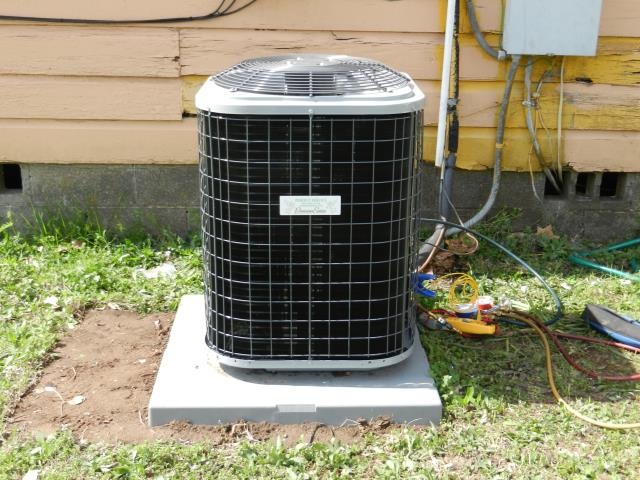 Pinson, AL - 1ST 13 POINT MAINTENANCE TUNE-UP UNDER SERVICE AGREEMENT FOR 11 YR A/C UNIT. RUSTY COILS, NO LEAKS. CLEAN AND CHECK CONDENSER COILS. CHECK VOLTAGE AND AMPERAGE ON MOTORS. CHECK THERMOSTAT, AIRFLOW, AIR FILTER, FREON LEVELS, DRAINAGE, ENERGY CONSUMPTION, COMPRESSOR DELAY SAFETY CONTROLS, AND ALL ELECTRICAL CONNECTIONS. LUBRICATE ALL NECESSARY MOVING PARTS AND ADJUST BLOWER COMPONENTS. EVERYTHING IS RUNNING GOOD.