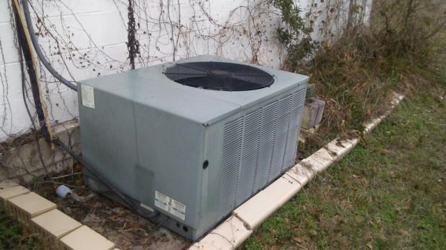 cleaned and serviced 21 yr old Rheem air conditioning unit.