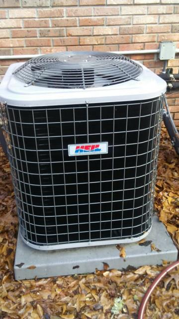 Cleaned and serviced 2013 heil air conditioning unit with heat pump. 12yr warranty on parts and labor.
