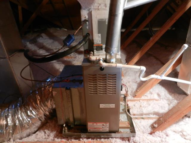 Hoover, AL - Cleaned and sanitized the 2006 air conditioning unit with Zep con-coil cleaner.