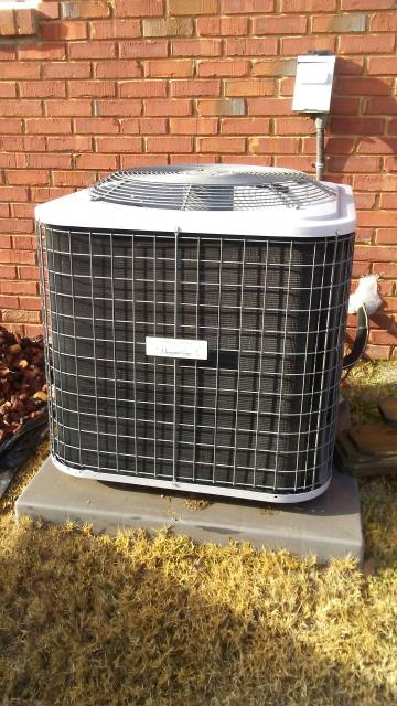 Lincoln, AL - Cleaned and safety checked the 2012 Heil air conditioning unit with Zep con-coil cleaner. No repairs needed