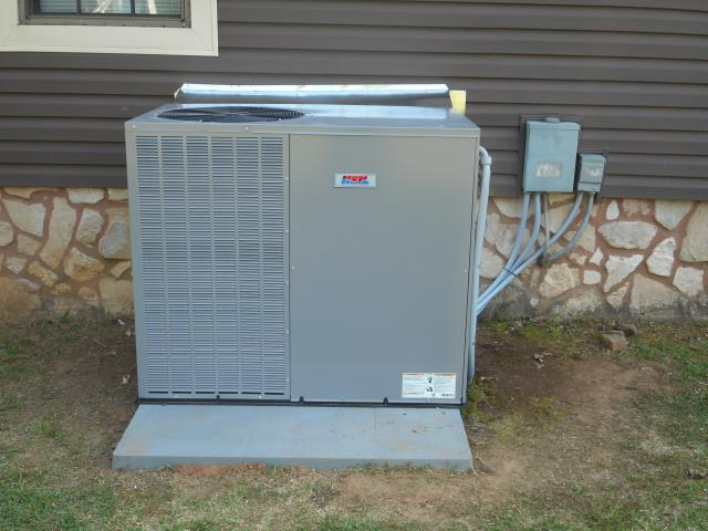 Fairfield, AL - Cleaned and sanitized the Heil 2015 air condensing package unit with heat pump, cleaned condensing coil and condensation drain. Checked burners for build up.