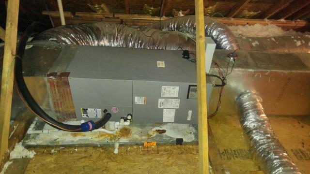 Columbiana, AL - Cleaned condensation drain and tested the thermostat.