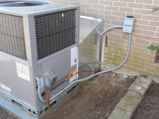 Service work performed for the 2010 Trane air condensing unit. Cleaned condensation drain.