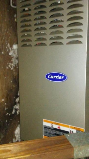 Montevallo, AL - Service work performed for the Carrier air condensing unit with Zep con-coil cleaner, no repairs needed.