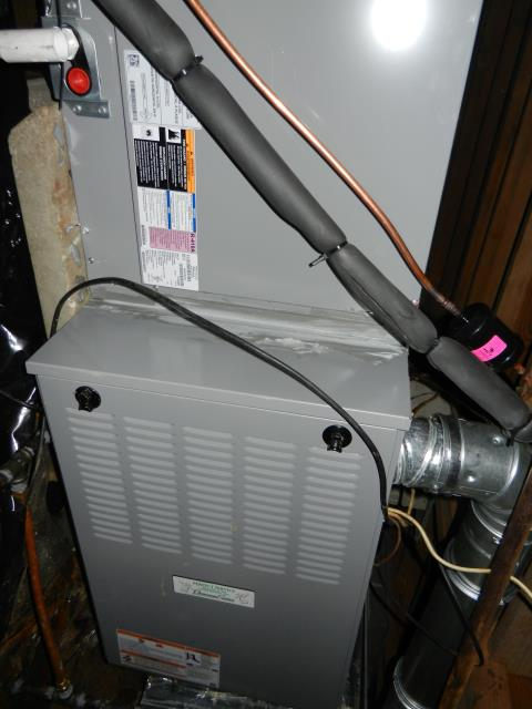 Pelham, AL - Cleaned condensation drain and condensing coil for 2012 Heil air conditioning unit with heat pump.