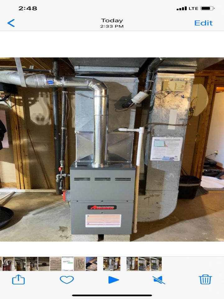 Joliet, IL - Installed new Amana furnace