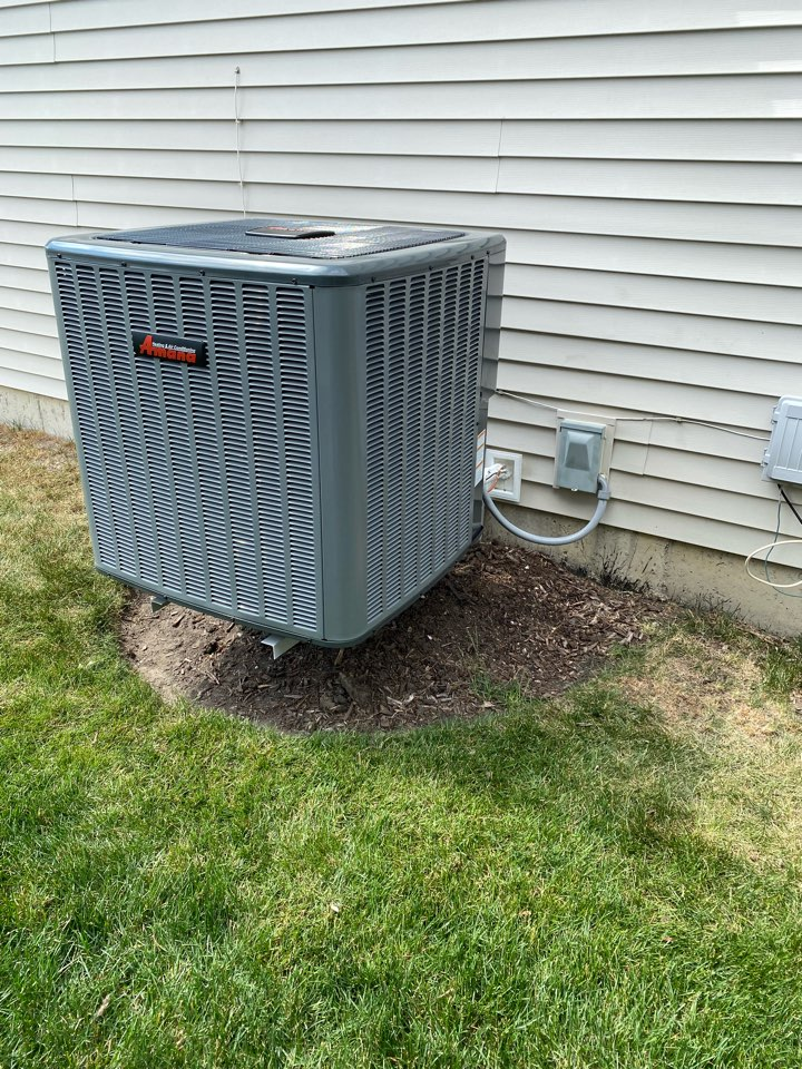 Joliet, IL - Installed new 96% efficiency Amana furnace, 16 SEAR Amana AC system , Air Bear air cleaner and General humidifier