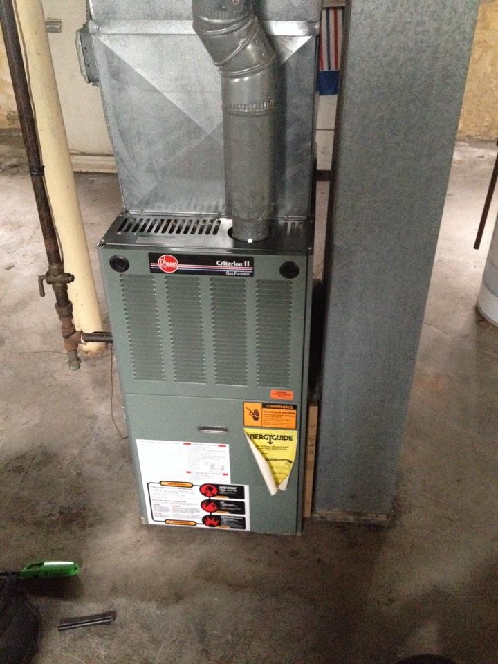 Steger, IL - Rheem furnace cleaning