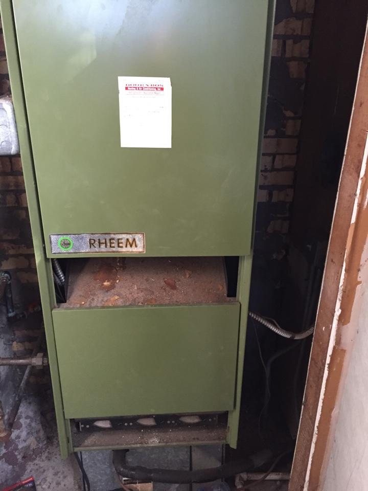 Lockport, IL - Service on a Rheem gas furnace.