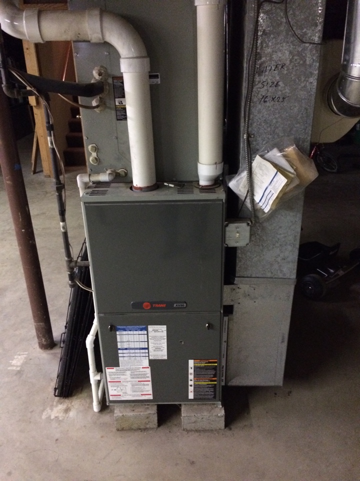 Manhattan, IL - Trane furnace installation and service in Manhattan, Il.