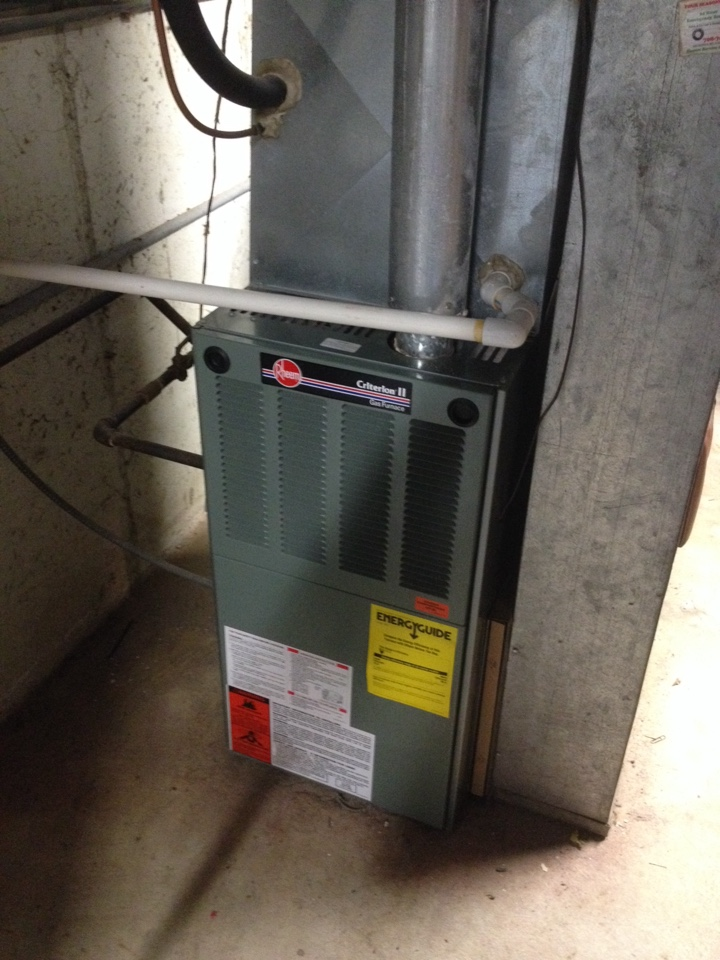 University Park, IL - Rheem furnace clean and check