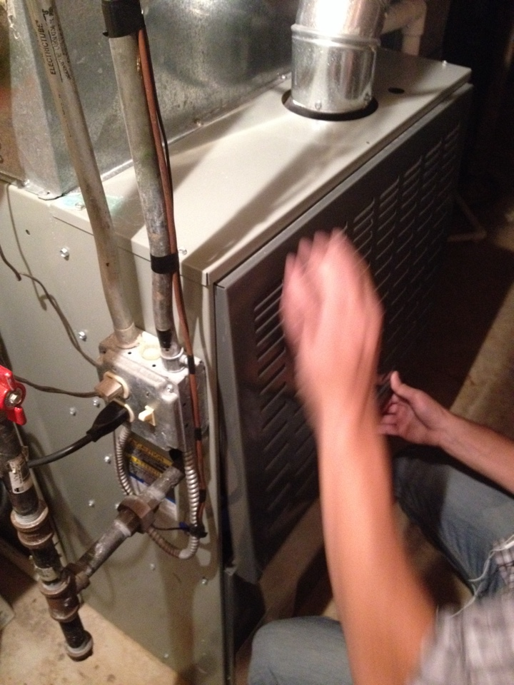 Flossmoor, IL - Trane furnace clean and check and added new GPS quality air box