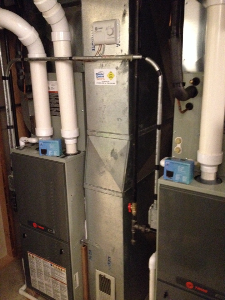 Homer Glen, IL - Trane double furnace clean and check with a Global Plasma Solutions quality air box installed in each furnace