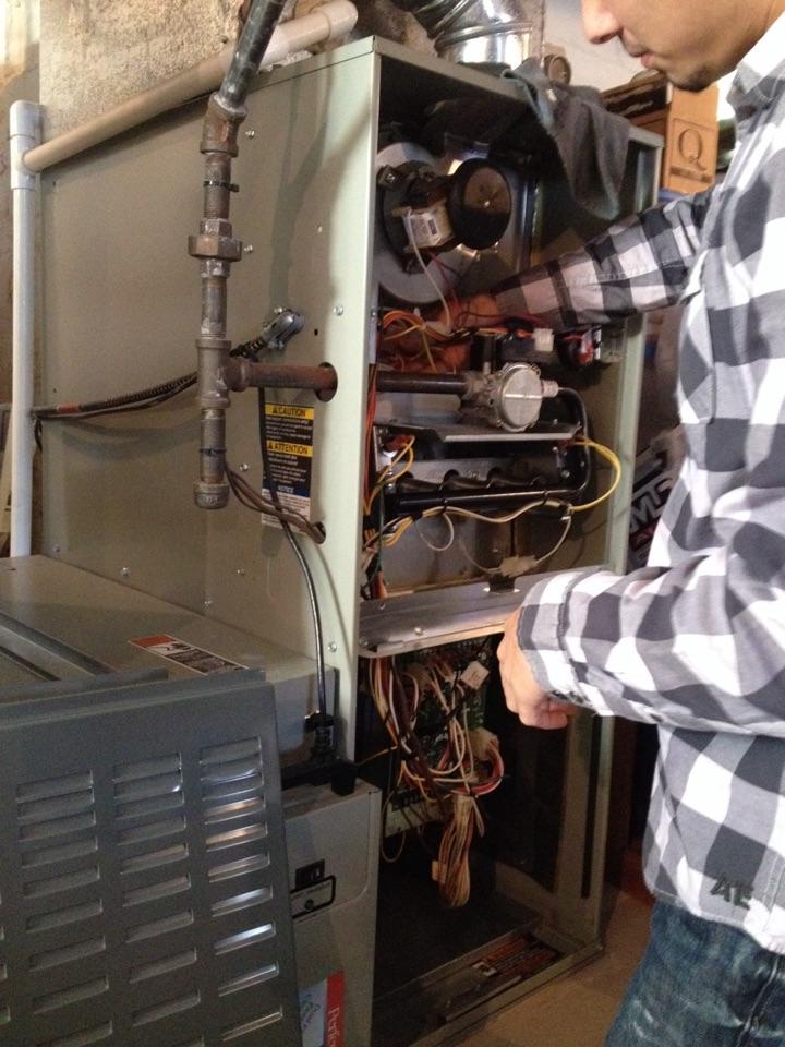 Crete, IL - Trane furnace clean and check