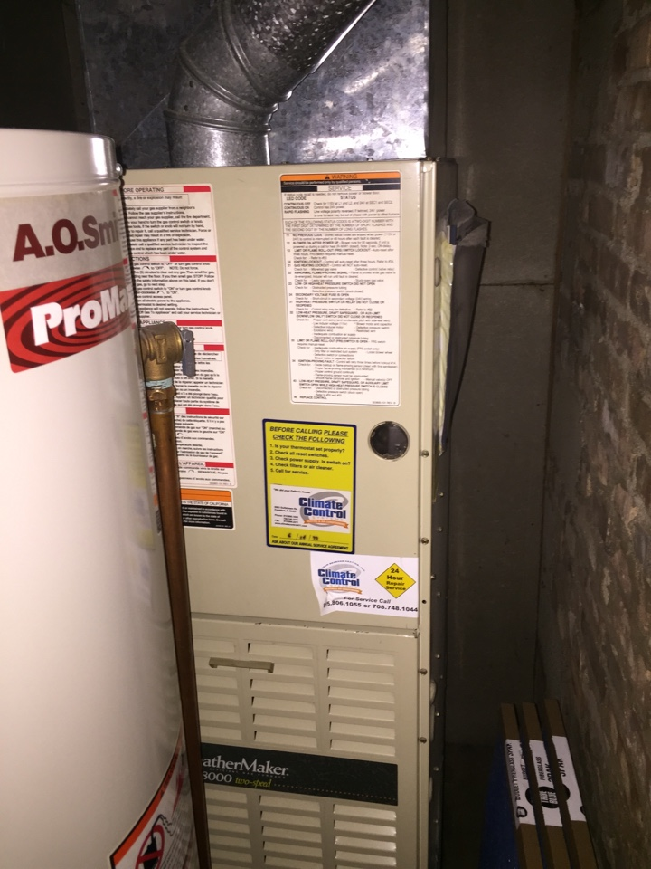 Tinley Park, IL - Check furnace operation on a Carrier furnace