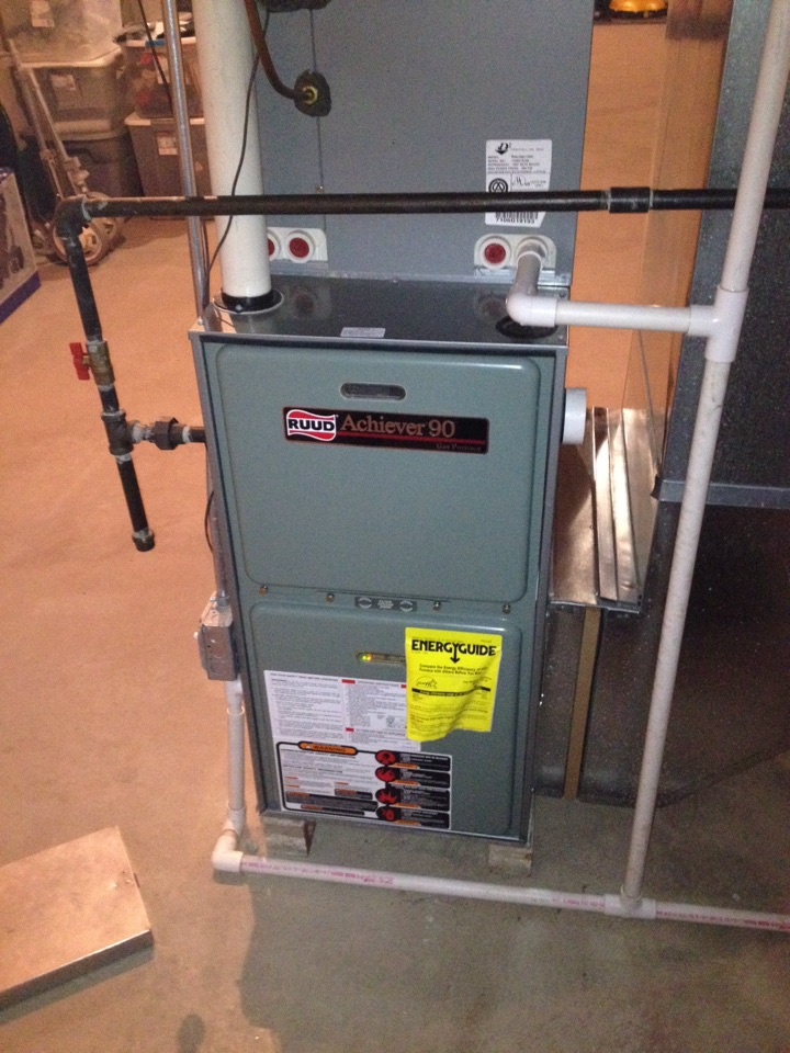 Country Club Hills, IL - Two Rheem furnace clean and checks