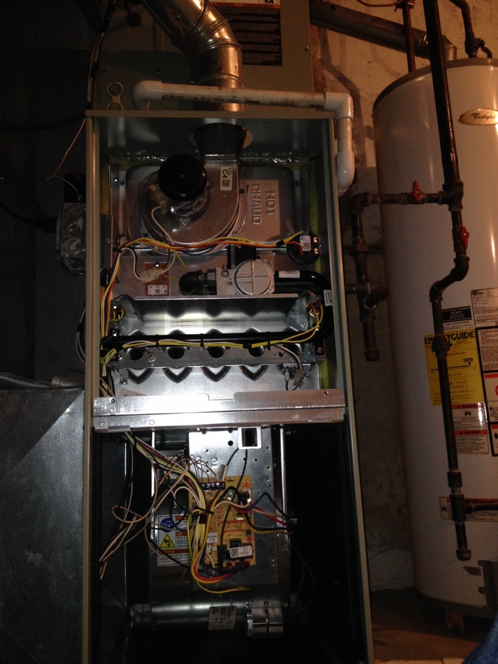 Orland Park, IL - Trane furnace clean and check