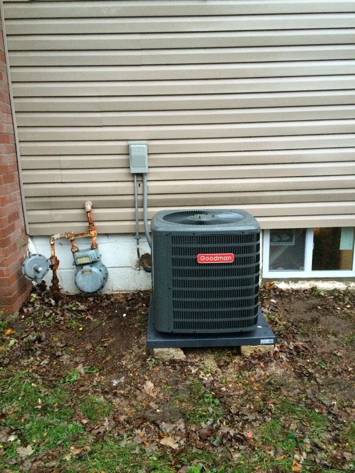 Manhattan, IL - Goodman ac and furnace install in Manhattan.
