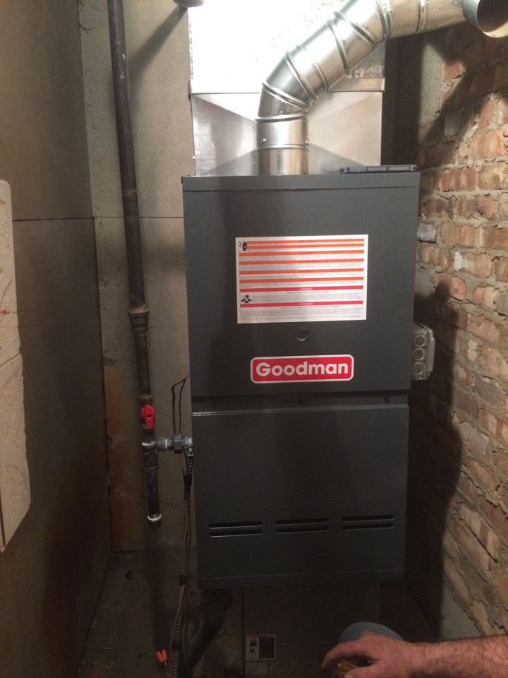 Tinley Park, IL - Goodman residential furnace install