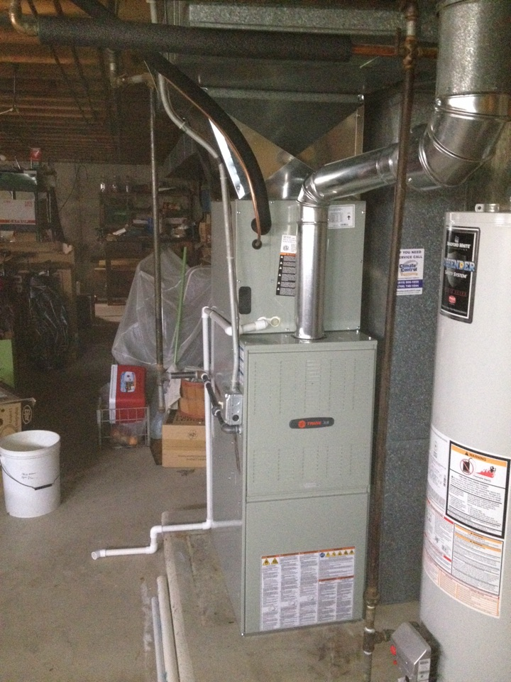 Richton Park, IL - New Trane furnace and air conditioning install