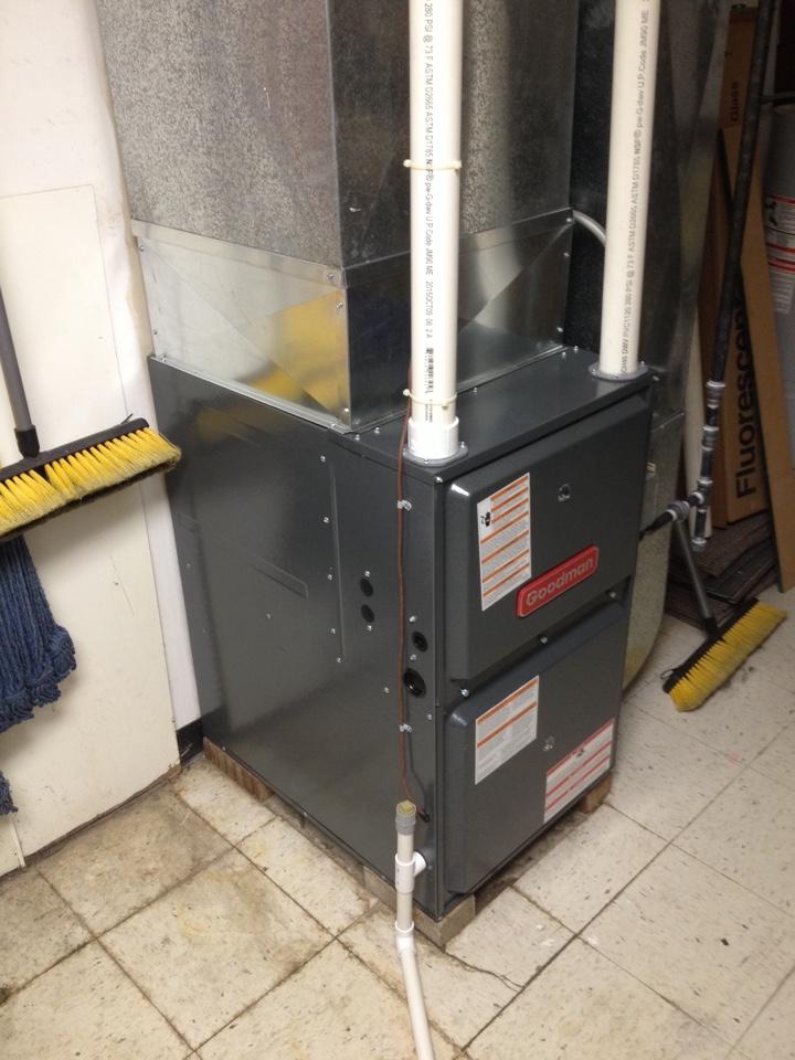 Romeoville, IL - Installed ninety percent Goodman furnace