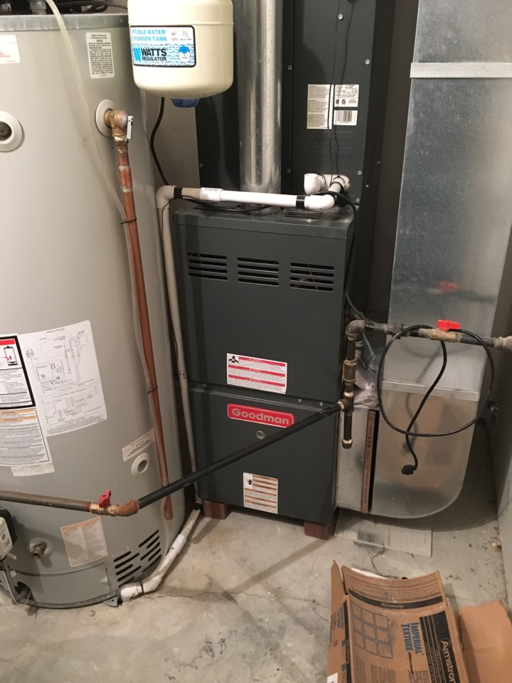 Channahon, IL - Doing clean and checks on eleven Goodman furnaces in a strip mall in Channahon
